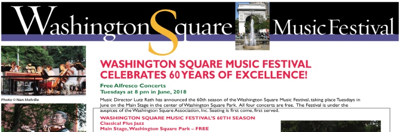 Neighborhood Focus: 60th Anniversary of the Washington Square Music Festival
